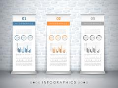 Exhibition concept infographic template design Stock Illustration
