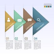 Stock Illustration of abstract geometric arrow flow infographic elements