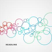 Stock Illustration of Beautiful colored circles on a light background