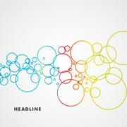 Beautiful colored circles on a light background - stock illustration