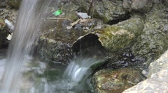 Fresh Spring flows through the rusty pipe 4k Stock Footage