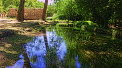 Reflection in the river Stock Footage