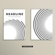Book cover with abstract lines and twirl Stock Illustration