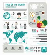 Infographic business of foods template design . concept vector illustration Stock Illustration
