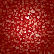 valentines day heart background - stock illustration