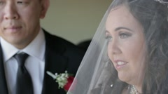 Bride and groom at altar Stock Footage