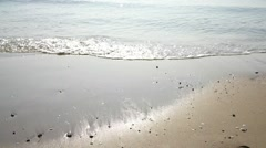 Ocean waves into the beach horizontal view Stock Footage
