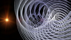 futuristic animation with stripe object and light in motion, loop hd 1080p - stock footage