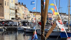 ST TROPEZ PORT Stock Footage