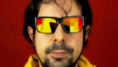 Hypnotech glasses disco floor - stock footage