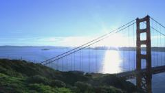 5K Motion Control Pan Time Lapse of Golden Gate Bridge at Sunrise -Full Frame- - stock footage