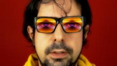 Hypnotech glasses god - stock footage