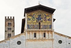Lucca Basilica of San Frediano Stock Photos