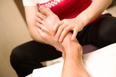 Cihinese foot acupuncture massage Kuvituskuvat