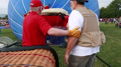 Families at hot air balloon freedom festival in provo Stock Footage