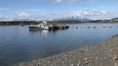 View of Ushuaia in Patagonia Argentina Stock Footage