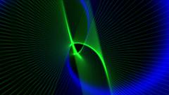 4k Abstract curve lines fantasy art background,universe space science fiction. - stock footage