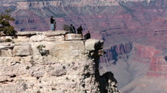 Grand Canyon beautiful landscape lookout tourists HD 7555 Stock Footage