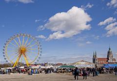 Munich, open air flea market - Riesenflohmarkt Stock Photos