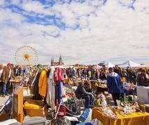 Open air flea market - Riesenflohmarkt Stock Photos