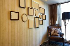 House interior with nice picture frame Stock Photos