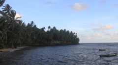 Fishing boats on the Island of Yap Stock Footage
