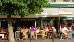 Parisian Cafes Stock Footage
