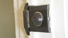 Black door lock open and close Arkistovideo