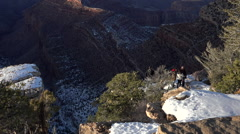 Grand Canyon Bright Angel overlook friends HD 115 Stock Footage