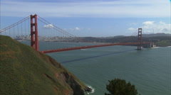 The Golden Gate Bridge is the gateway to San Francisco. Stock Footage