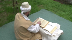 Dervishes Reading Arabic Stock Footage