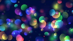 Animation of colorful circles, bokeh background Stock Footage