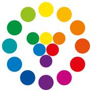 Color Wheel With Circles Stock Illustration