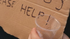 Helping a person in need Stock Footage