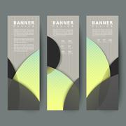Modern banners design set Stock Illustration