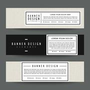 Modern banner template design Stock Illustration