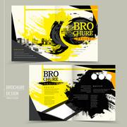 Stock Illustration of stylish half-fold brochure design