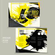 Stylish tri-fold brochure design Stock Illustration