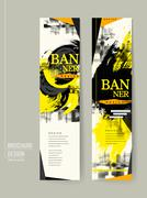 Stylish banner template design Stock Illustration