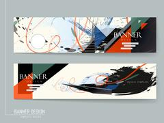 Stylish banner brochure design Stock Illustration