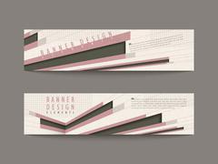 retro banner design elements - stock illustration
