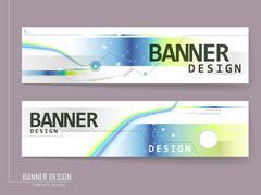 modern banner template brochure - stock illustration