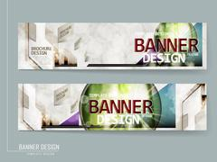 Modern banner template brochure Stock Illustration