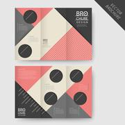Modern geometric tri-fold brochure Stock Illustration