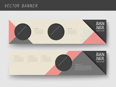 Modern geometric banner template design Stock Illustration