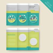 Stock Illustration of ecology concept tri-fold brochure template