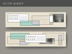 elegant banner template set - stock illustration