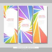 colorful banner brochure template design - stock illustration