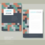 Creative geometric poster set template design Stock Illustration