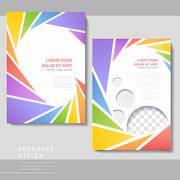 colorful poster template design - stock illustration